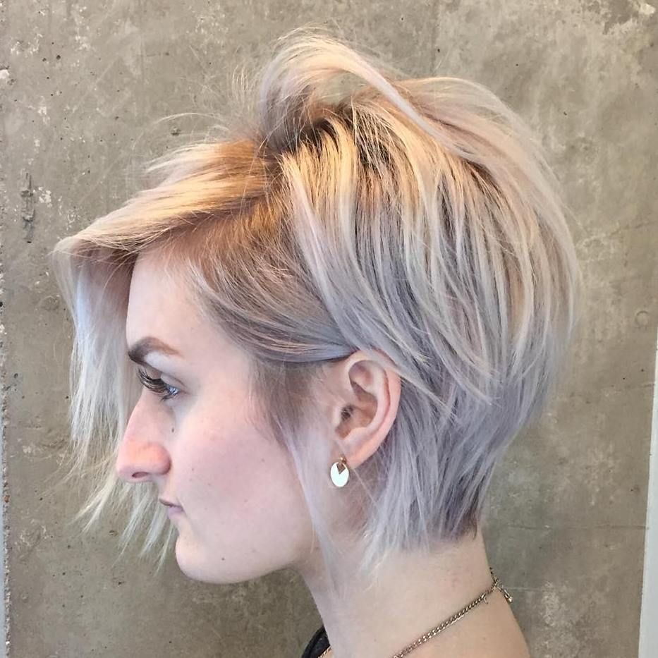 Tousled Pixie Bob For Thin Hair