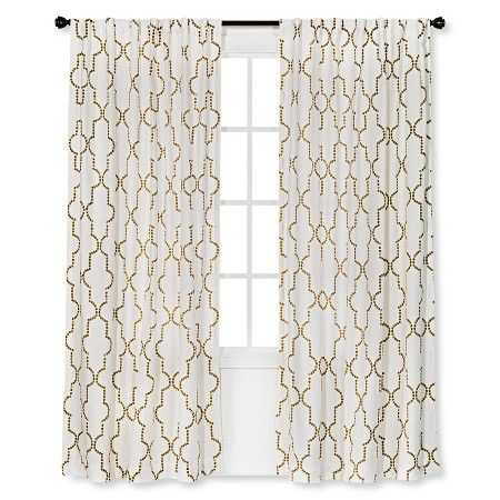 Threshold Dot Lattice Curtain Panel Target Panel Curtains