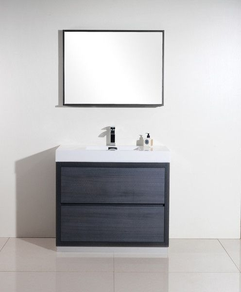 bliss 40 modern grey oak vanity the vanity store canada 40 1 rh pinterest com bathroom vanities stores in miami bathroom vanities stores