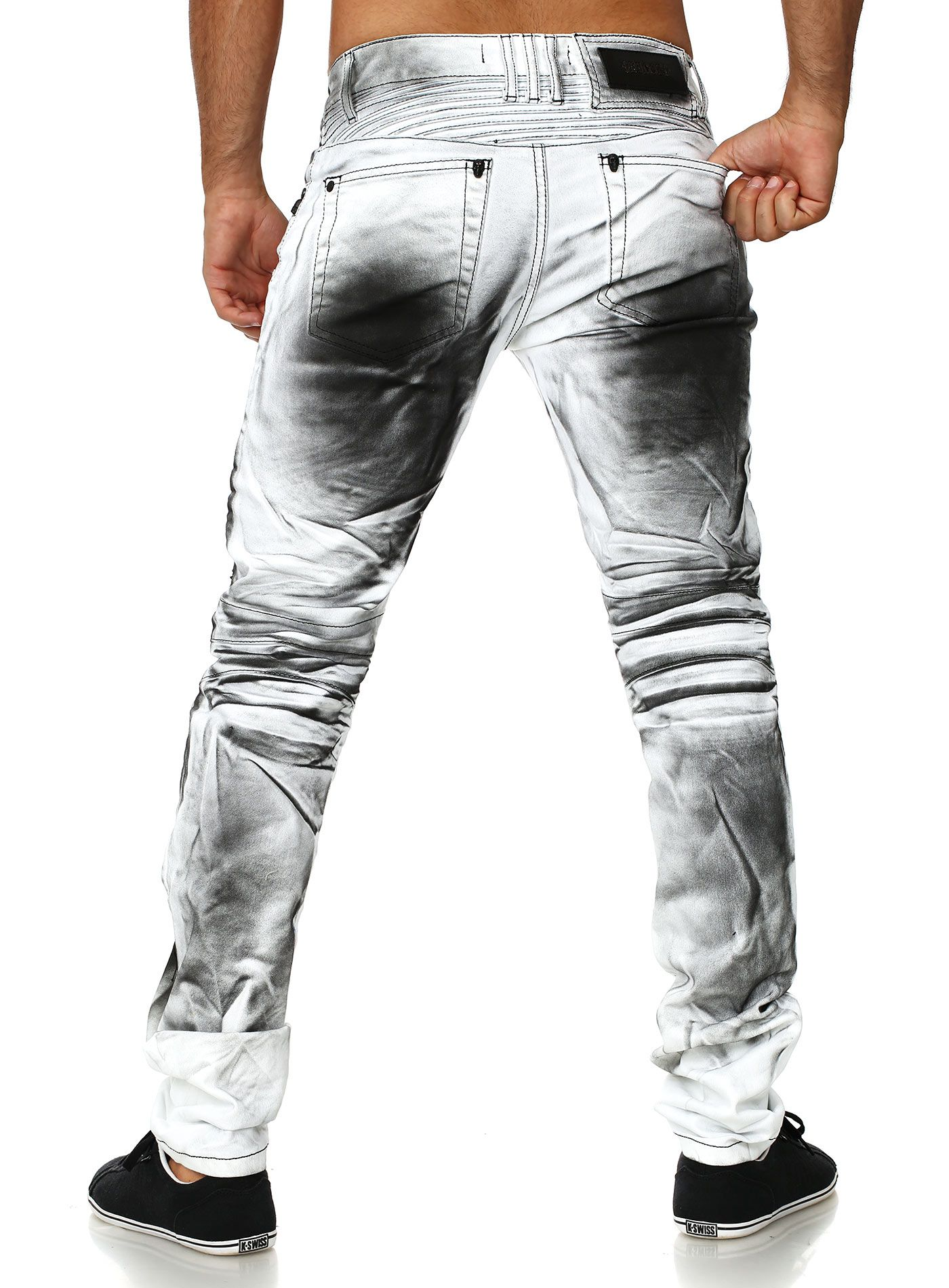 01d7f8c9 Kingz Jeans Vintage Look white | Fashion for me | Denim pants mens ...