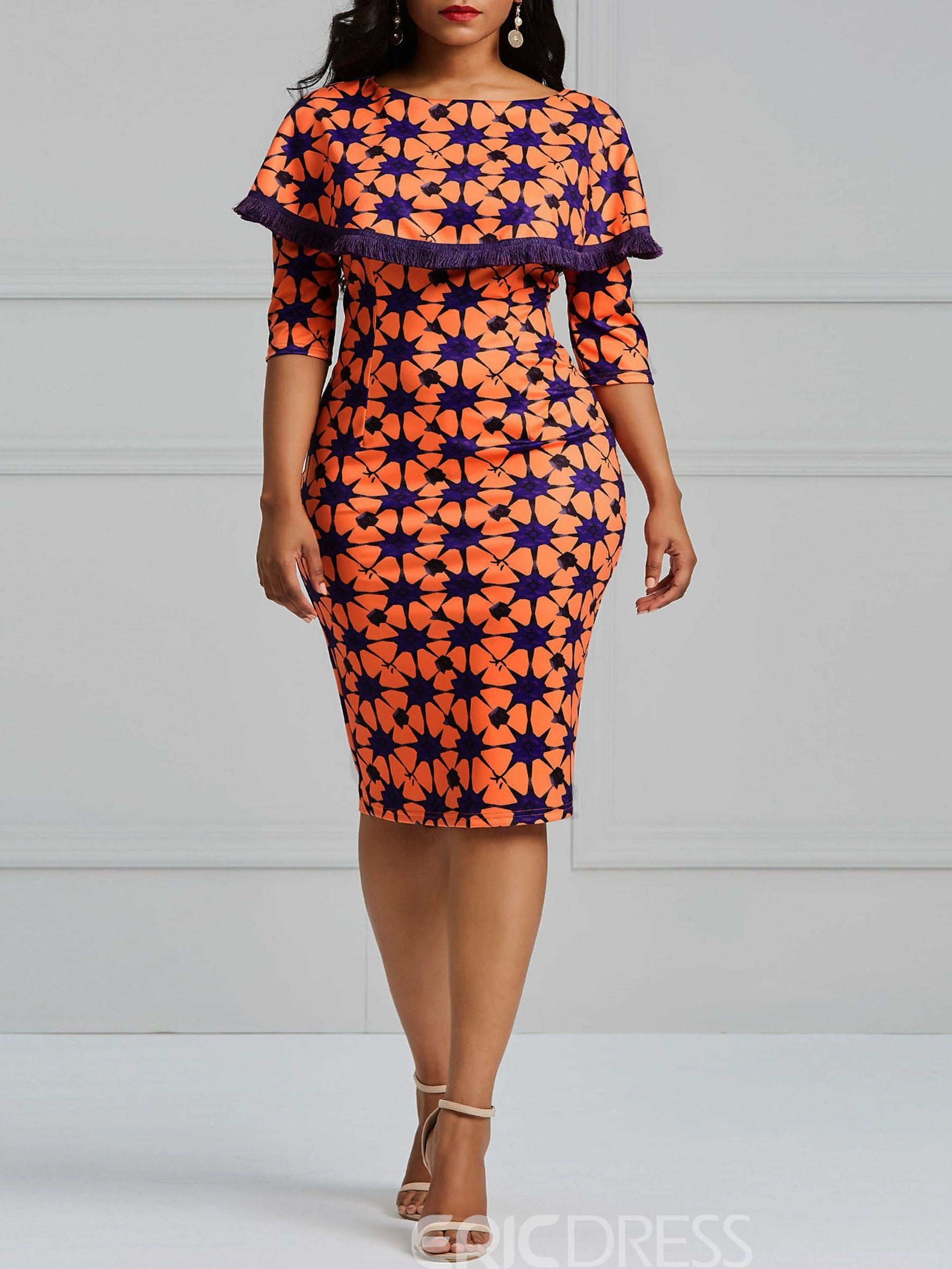 281d5ec86ff Ericdress Bodycon Geometric Print Women's Dress | Dresses in 2019 ...