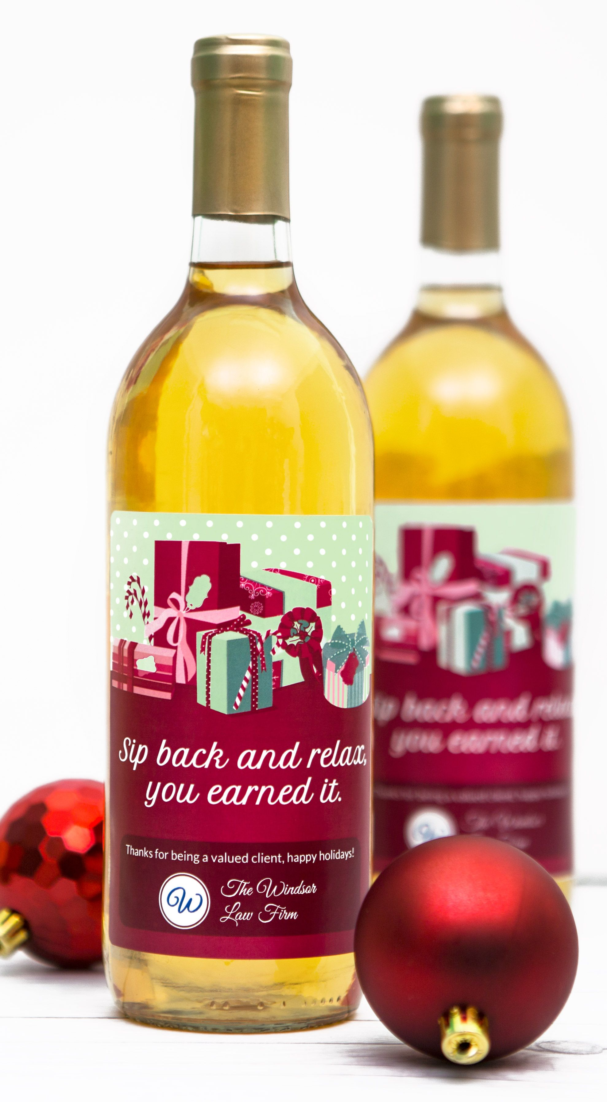 Give Your Clients A Gift They Ll Love This Holiday Season A Bottle Of Wine With A Custom Branded Label Wine Bottle Diy Wine Bottle Labels Wine Bottle Labels