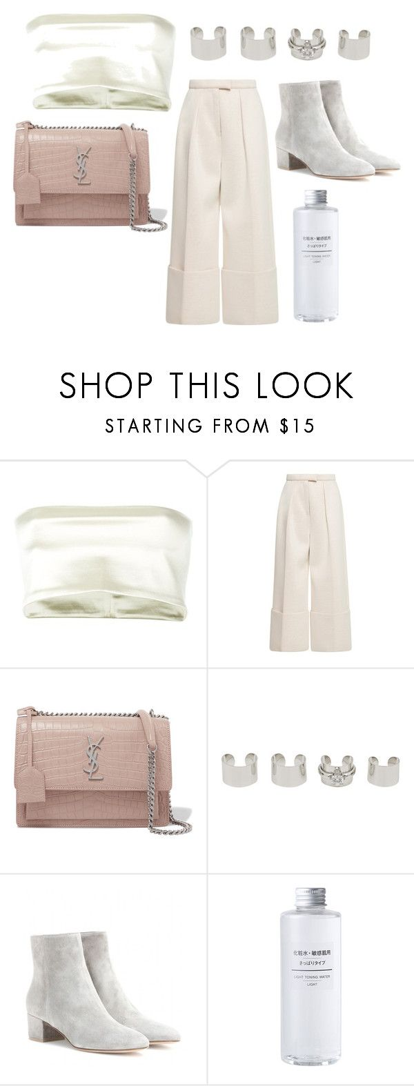 """Sin título #330"" by petitaprenent on Polyvore featuring moda, Romeo Gigli, Yves Saint Laurent, Maison Margiela, Gianvito Rossi y Muji"