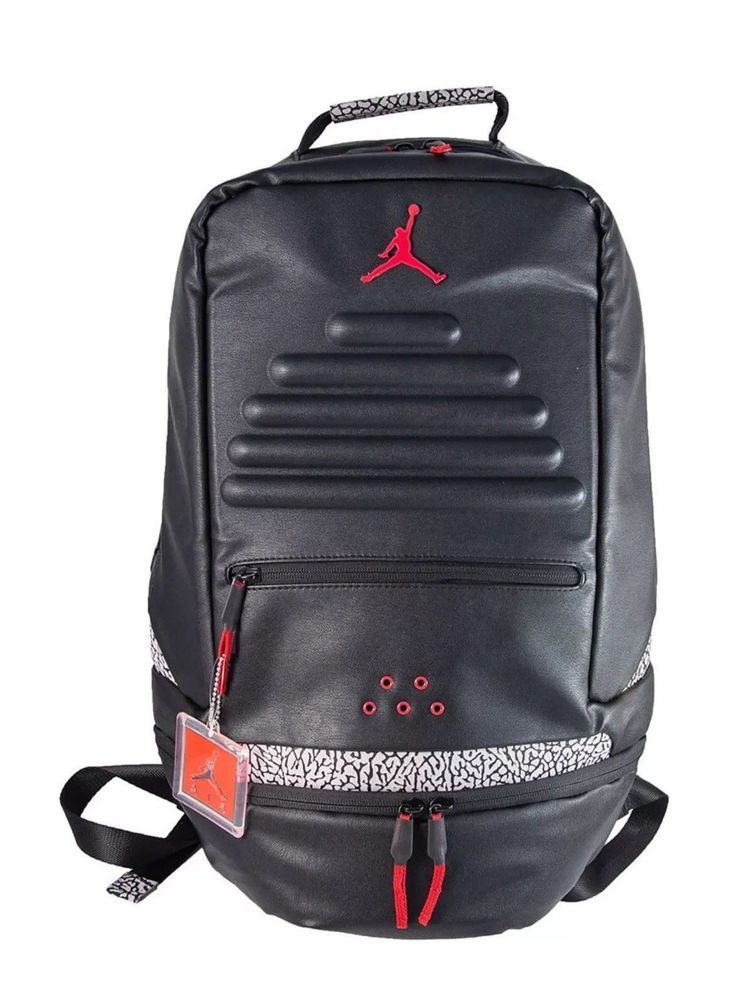 timeless design 7328e c20d4 NWT NIKE AIR JORDAN RETRO 3 BACKPACK BLACK GYM RED-CEMENT (9A0018 KR5)  150   fashion  clothing  shoes  accessories  unisexclothingshoesaccs ...
