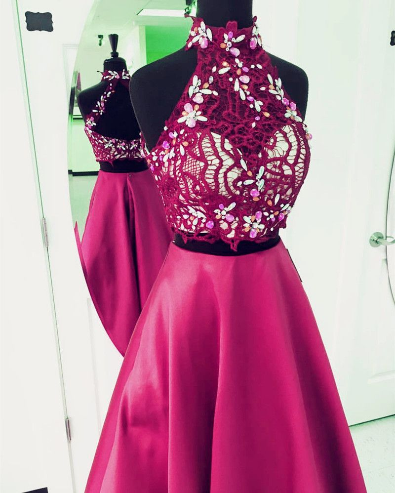 Two Piece Prom Dress2 Piece Prom Gownselegant Beaded Prom Dress