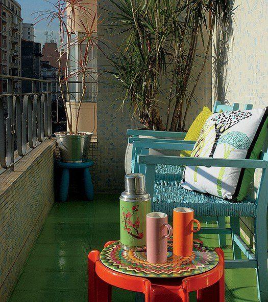 Der Balkon \u2013 unser kleines Wohnzimmer im Sommer