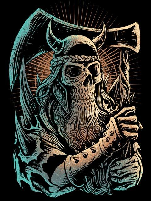 viking axe by henryzoel skulls skeletons and other little things pinterest viking axe. Black Bedroom Furniture Sets. Home Design Ideas
