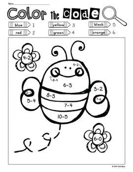 Print and Go! Spring Garden Math and Literacy (NO PREP