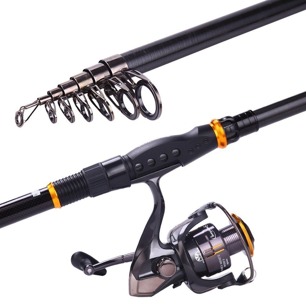 Amazon Com Sougayilang Fishing Rod Reel Combos Carbon Telescopic Fishing Rod Pole With Spinning Reel Lin Telescopic Fishing Rod Fishing Rod Fishing Equipment