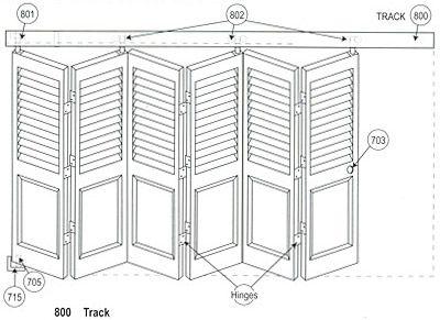 Heavy Duty Premium Grade Bi Fold Track Hardware Bifold Doors Fold Master Closet