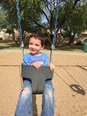 parker in a swing