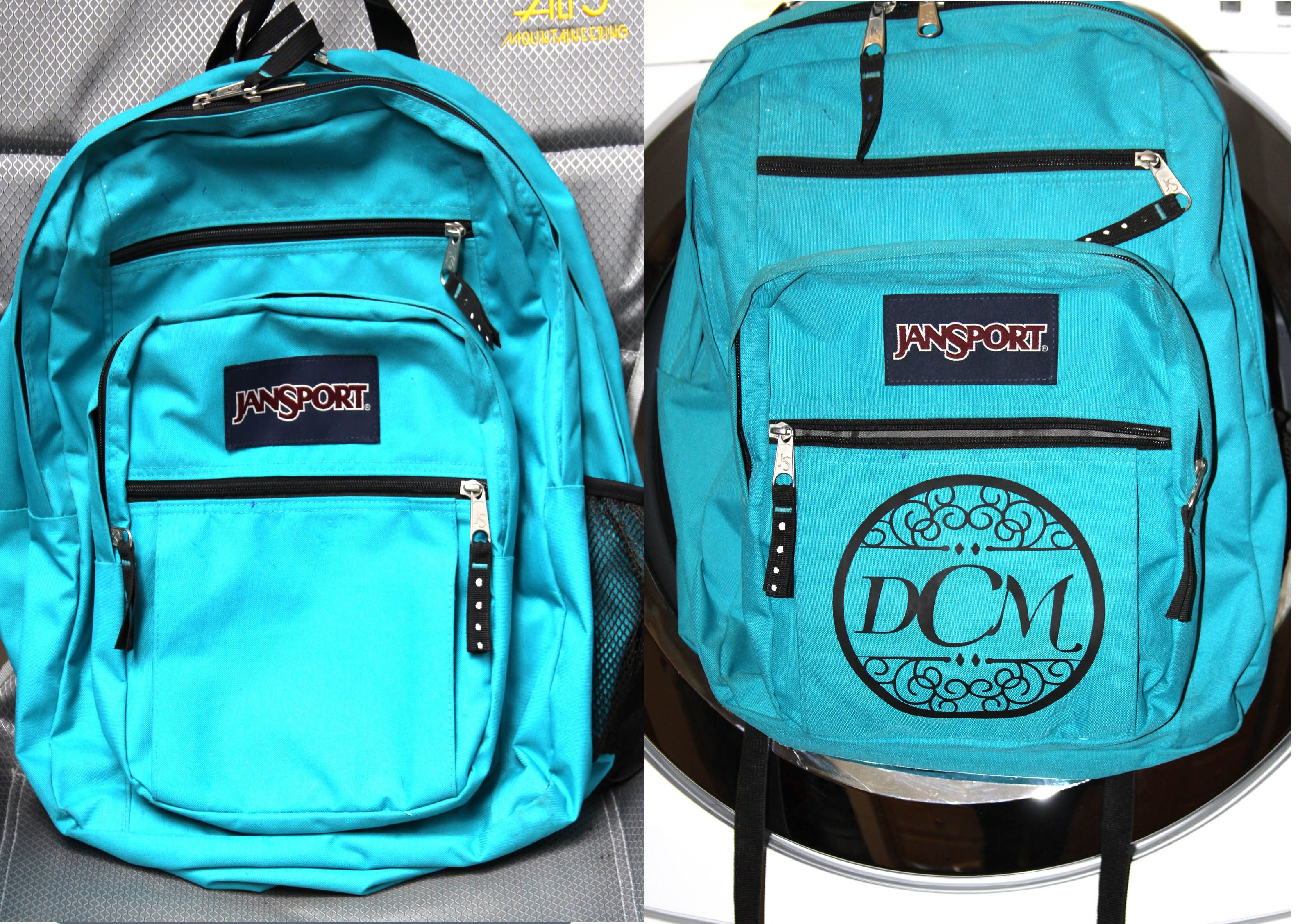Personalized Jansport backpack, HTV cut with the Silhouette. | My ...