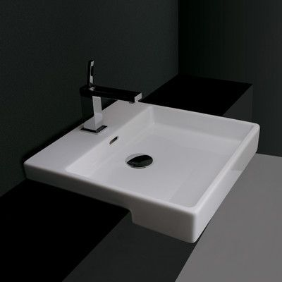 Ws Bath Collections Ceramica Valdama Ceramic Square Drop In Bathroom Sink With Overflow Sink Countertop Wall Mounted Bathroom Sinks Drop In Bathroom Sinks