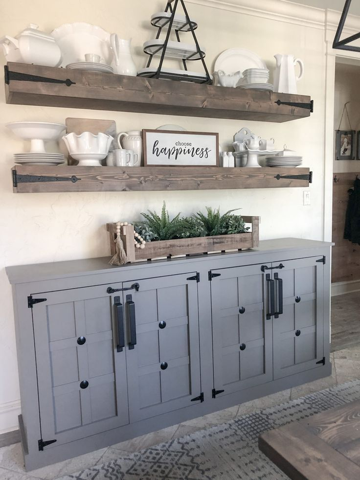 DIY Modern Farmhouse Cabinet Free Plans by Shanty2Chic #farmhousediningroom