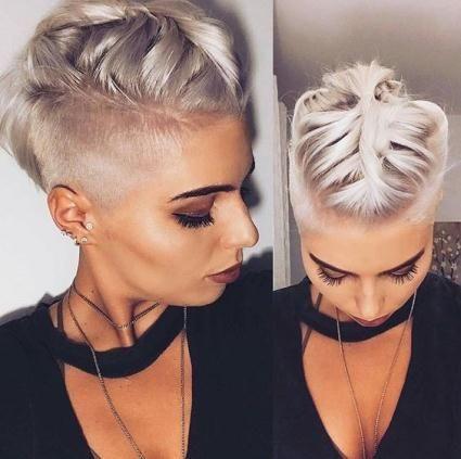 Cortes de cabello para mujeres corto 2017 rapados Pinterest
