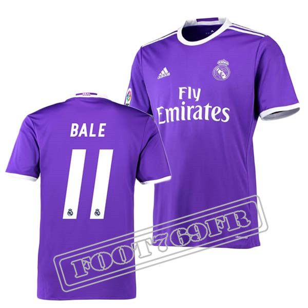 Nouveau Maillot Bale 11 Real Madrid Homme Violet 2016 2017 Exterieur : La Liga