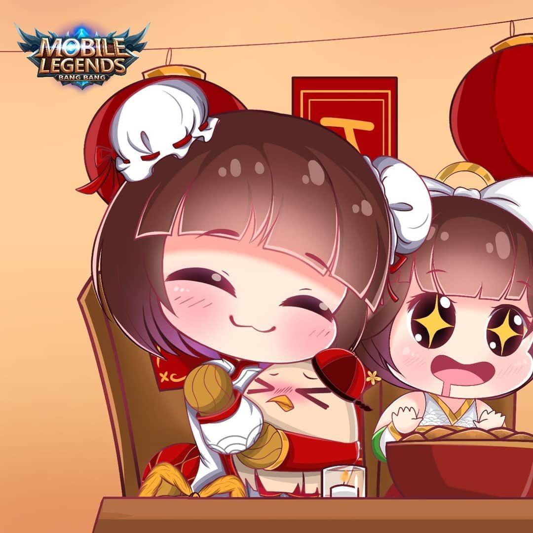 Happy Chinese New Year Gong Xi Fa Cai Chinesenewyear Cny Mgl Mglid Mobilelegendsfanart Mlbb Mobilelegends Seni Anime Seni Mobil