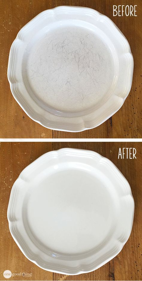 How To Make Your Scratched Dishes Look Brand New Cleaning Hacks Diy Cleaning Products House