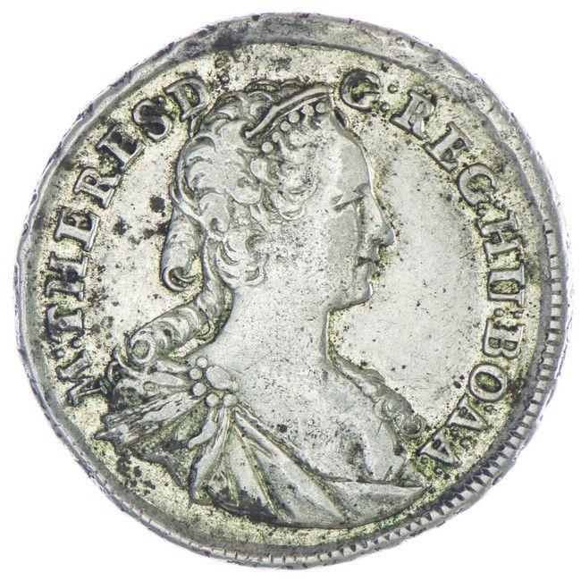 Xv Kreuzer 1745 Kb Rdr Haus österreich Maria Theresia 1740 1780