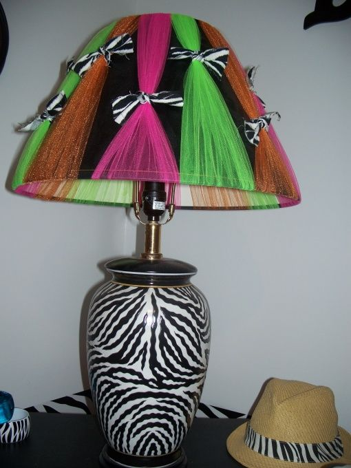Zebra Hot Pink Lime Green Orange Bedroom Girls Room
