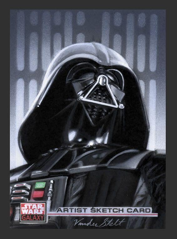 Darth Vader sketch card by Jerry Vanderstelt