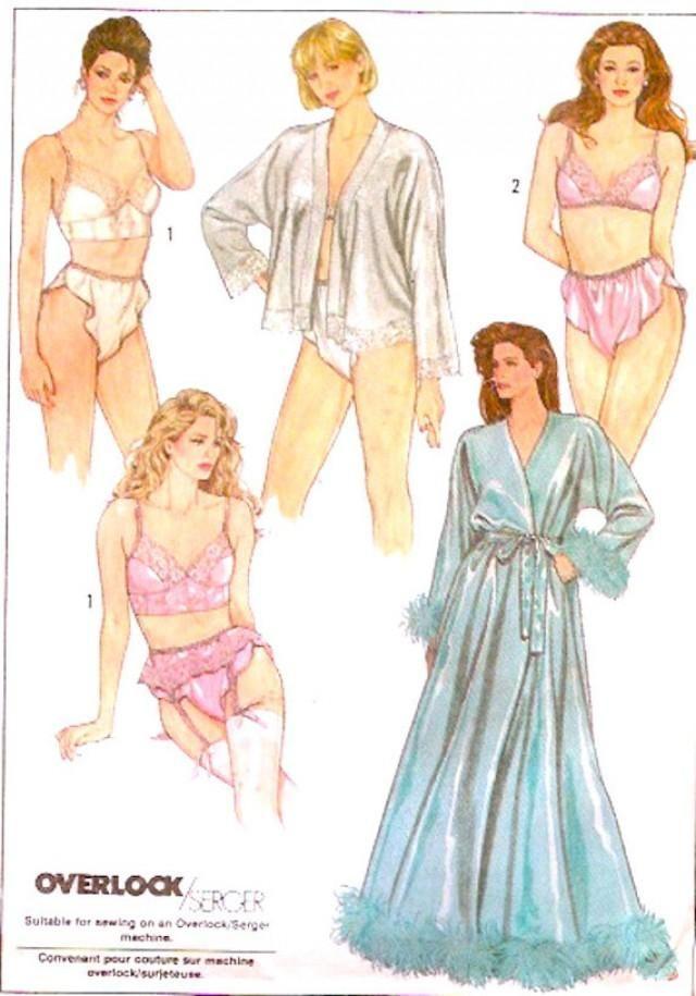 22859ff088 Simplicity 8957 80s Romantic Lingerie Bra Bustier Garter belt panties Robe  Vintage sewing pattern Honeymoon Bridal brides wear Sz 12 UNCUT. This 80s