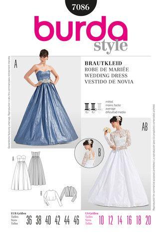 Schnittmuster: Brautkleid/ Korsagenkleid - Download - Brautkleider ...