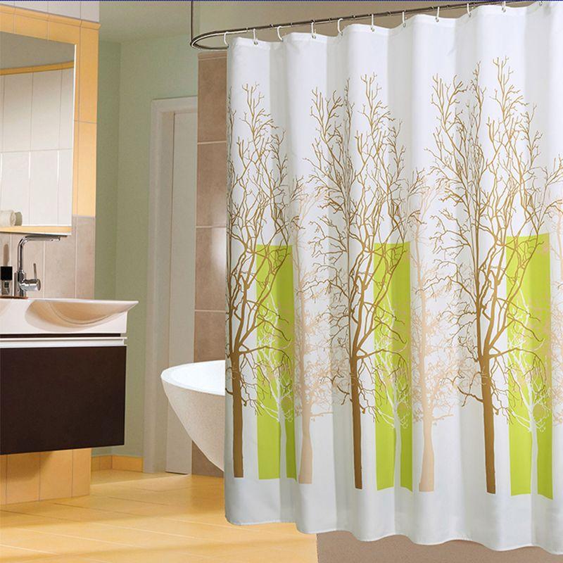 64 Cashback 28 Off Plants Pattern Shower Curtains Waterproof