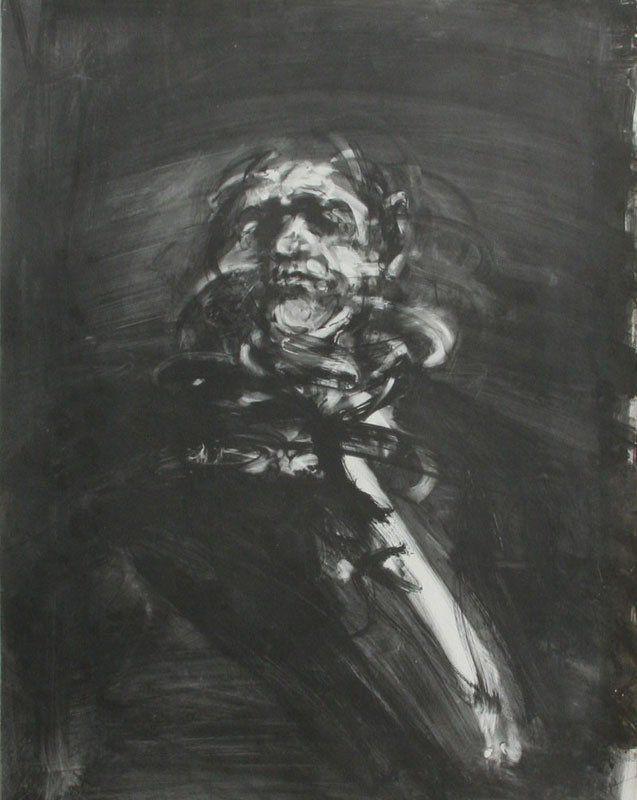 "Claude Weisbuch (1927 -) Untitled (Portrait), Lithograph, 27.5"" x 21"""