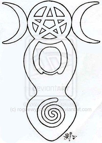 Spiral Goddess Tattoo Design By Roguewyndwalker On DeviantART - tattoo template
