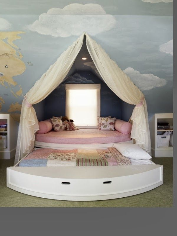Also has a trundle bed. Well thatu0027s what it looks like . My little girl would probably sleep by the window . & The Best DIY and Decor Place For You: Cute girls room | Good Idea ...