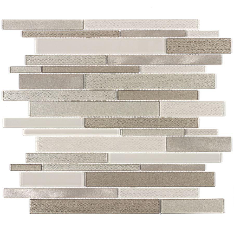 elida ceramica coquina linear mosaic glass and metal wall tile elida ceramica coquina linear mosaic glass and metal wall tile common 12 in