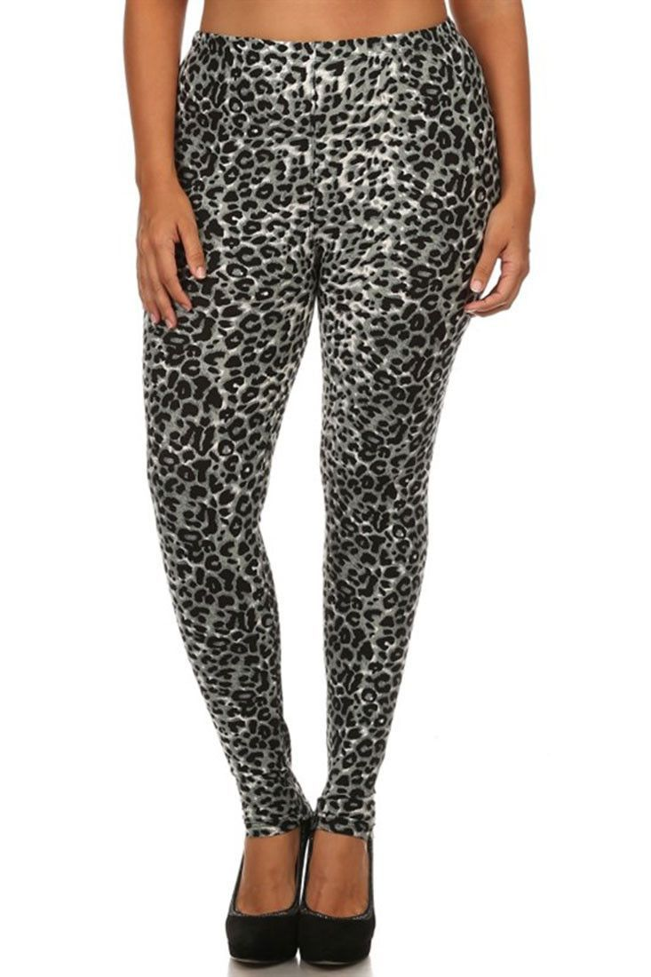 LEOPARD CHEETAH ANIMAL PRINT OS ONE SIZE 0-12 Buttery SOFT LEGGINGS