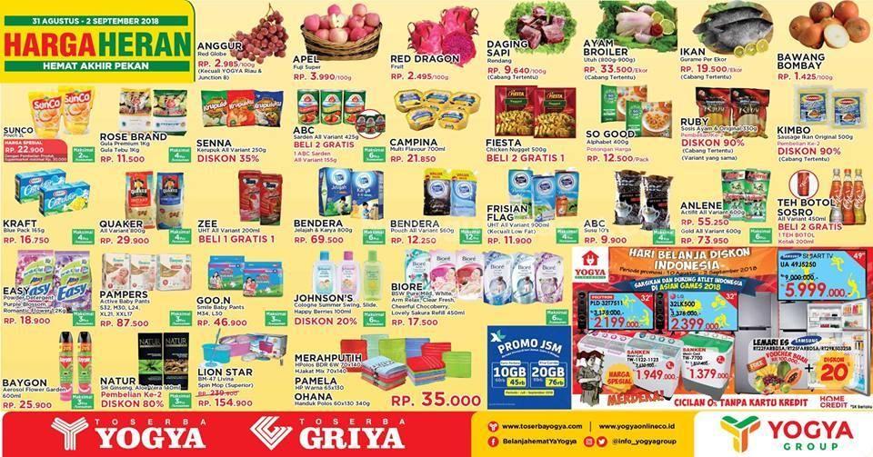 Promo Harga Heran Toserba Yogya Griya Minggu Ini 26 28 Oktober 2018 Weekend Promo Ayam Daging Ikan
