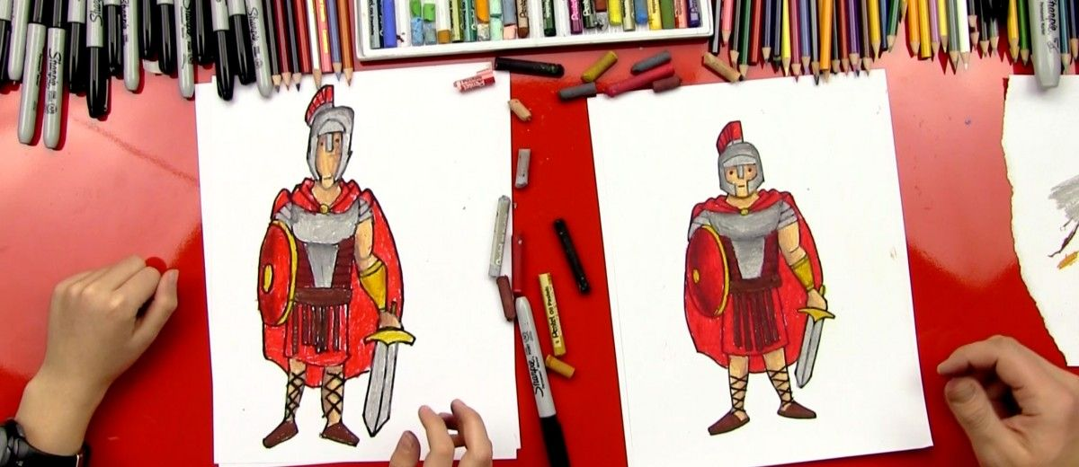How To Draw A Roman Soldier - Art For Kids Hub - | Roman soldiers ...