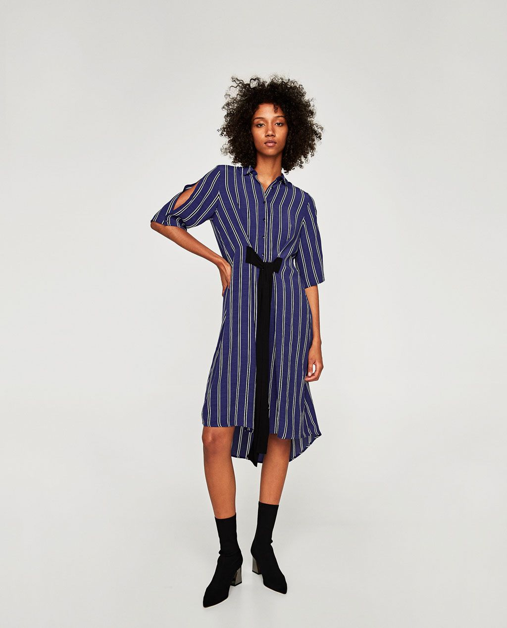 08fefdef Image 1 of LONG STRIPED TUNIC from Zara | Style Graduates - Over 40s ...