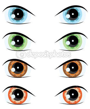 Cartoon Eye Vector Set Cartoon Eyes Color Vector Eyes Clipart
