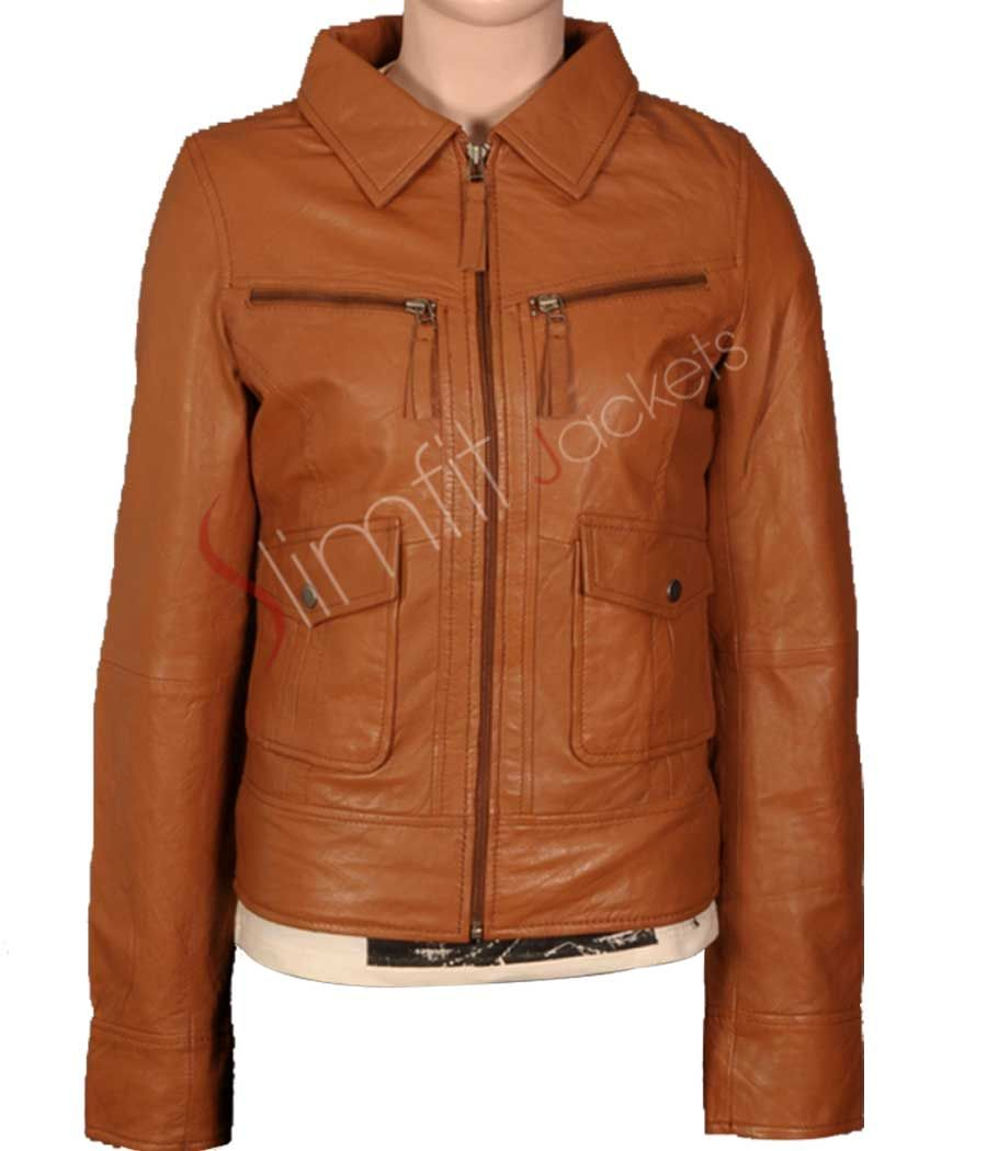 Women's Stylish Panther Brown Jacket. #Menswear #leatherjacket #coat #outfit #Fashion #Kids #Women #Jacket - For more queries visit: Slimfitjackets.com