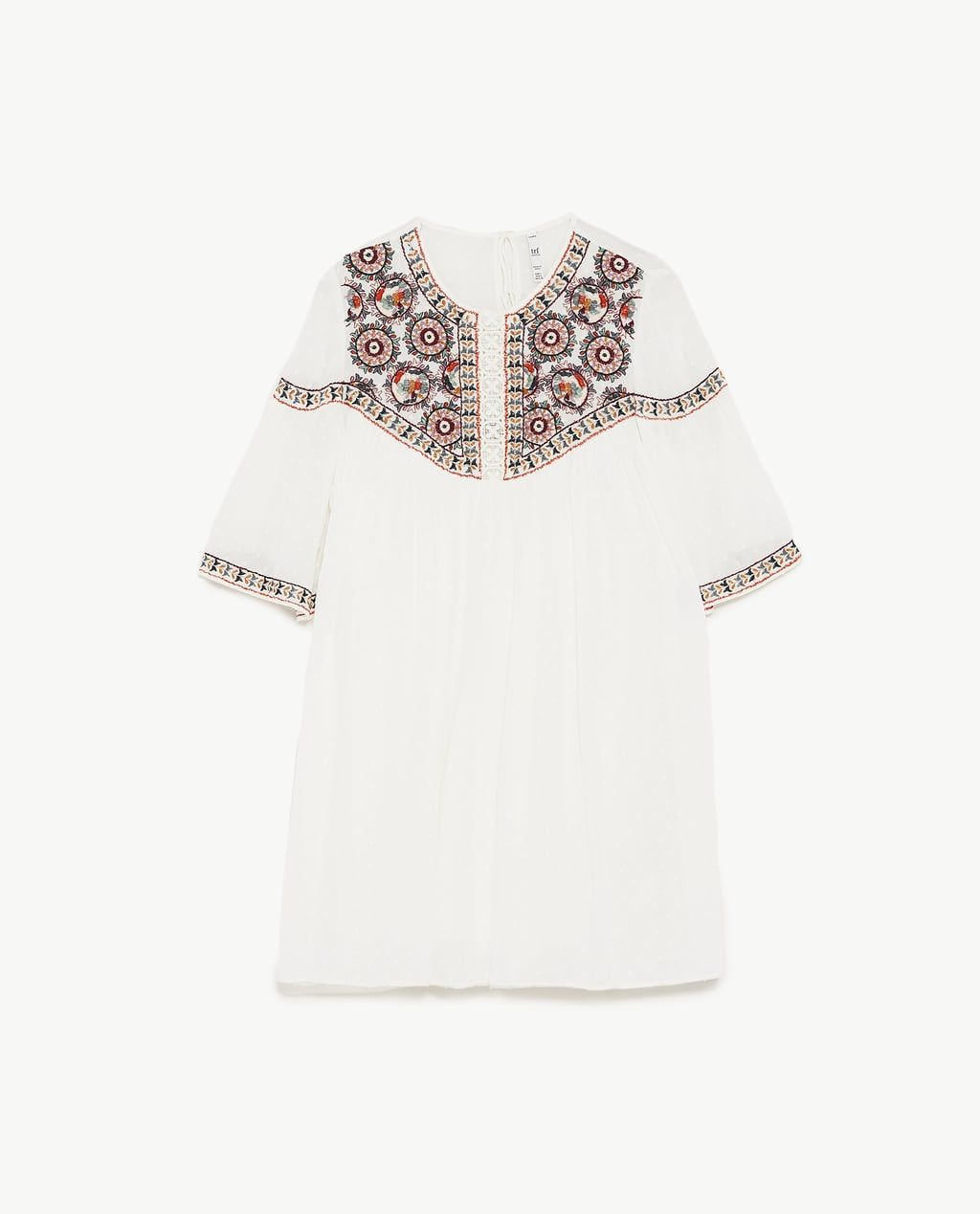 Vilshenko floral embroidered flared dress WHITEMULTI CXMPQF
