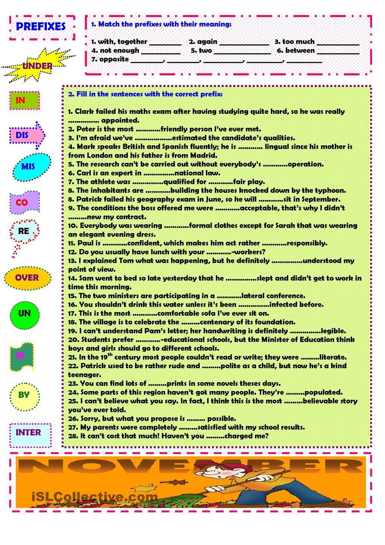 Prefixes Prefixes Word Formation Learn English [ 1440 x 1018 Pixel ]