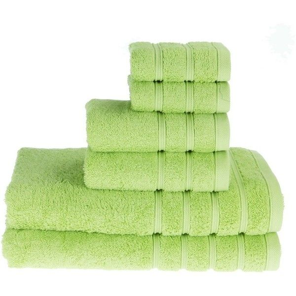 PROMIC 100% Cotton Bath Towel Set ,6 Piece Includes 2 Bath Towels, 2... (€22) ❤ liked on Polyvore featuring home, bed & bath, bath, bath towels, cotton wash cloth, cotton bath towels, green bath towels, green hand towels and 6 piece towel set