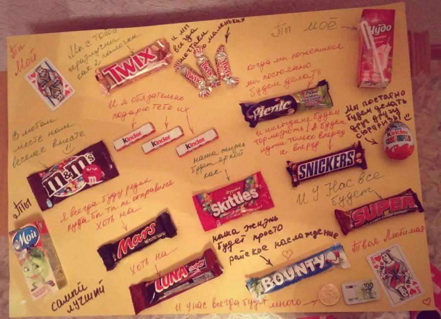 Прикольные картинки с шоколадками и надписями своими руками