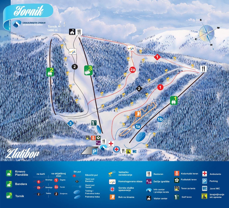 Mapa Skijalista Zlatibor Skiing Ambient Lighting