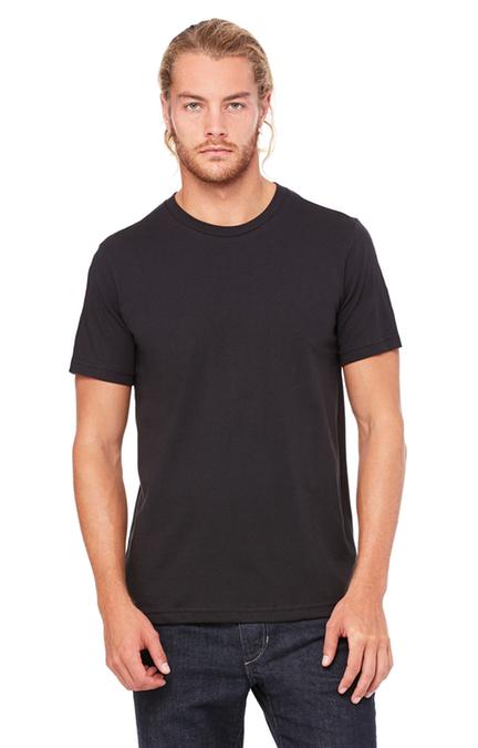 Bella + Canvas 3001C Vintage Black Unisex Jersey TShirt