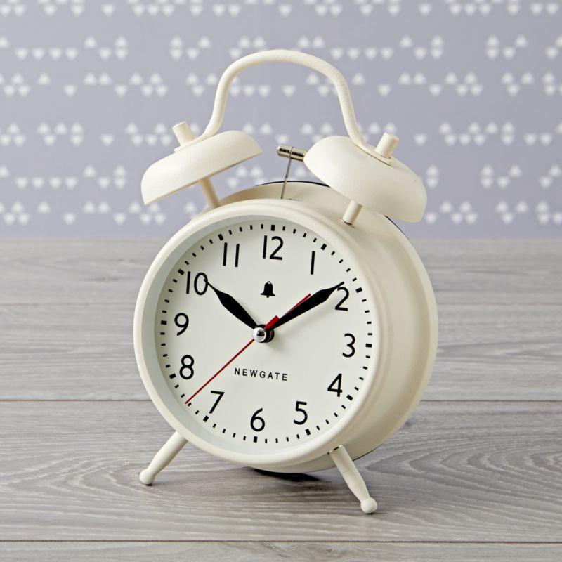 White Retro Alarm Clock Reviews Crate And Barrel In 2020 Retro Alarm Clock Alarm Clock Crate And Barrel