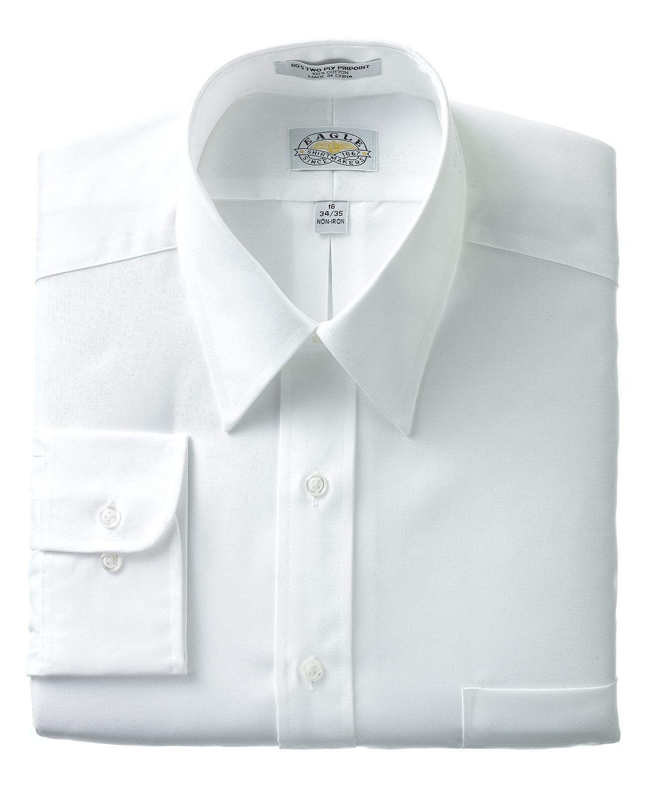 8ecc7fde8eb Eagle Dress Shirt, No-Iron Pinpoint - Mens Shirts - Macy's $34.75 ...