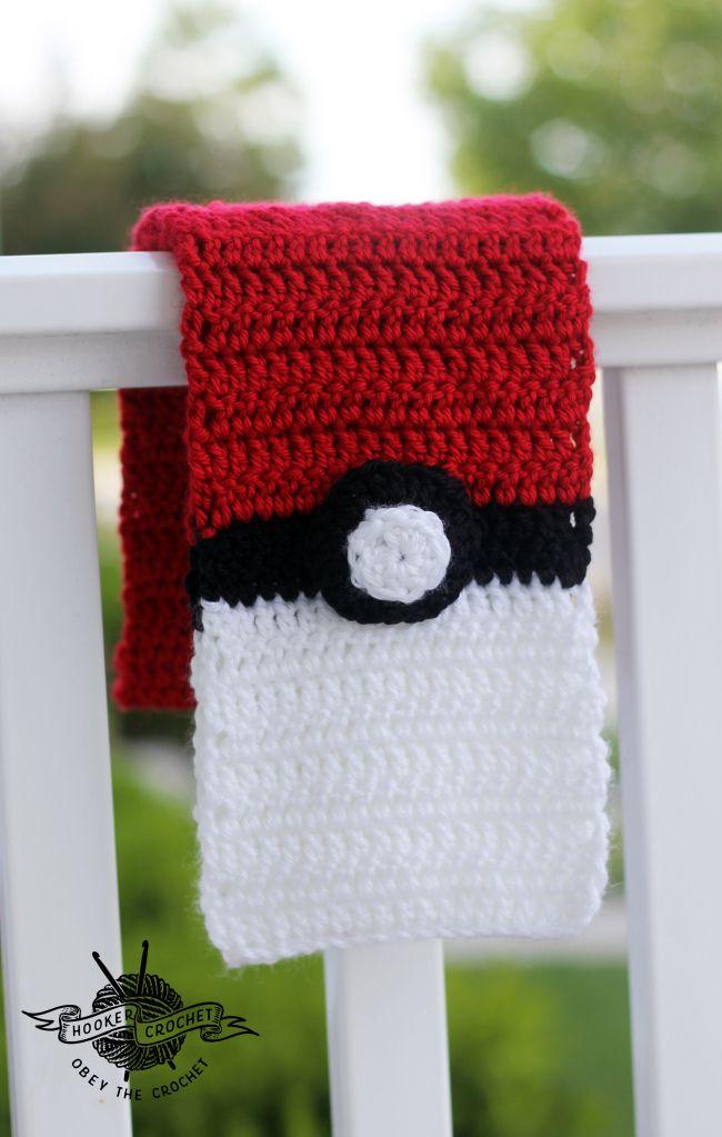 Pokemonscarf2 Crochet Pinterest Crocheted Headbands Free