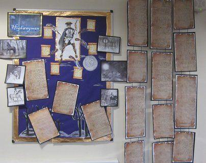 the highwayman literacy poem classroom display school ideas classroom displays reading. Black Bedroom Furniture Sets. Home Design Ideas
