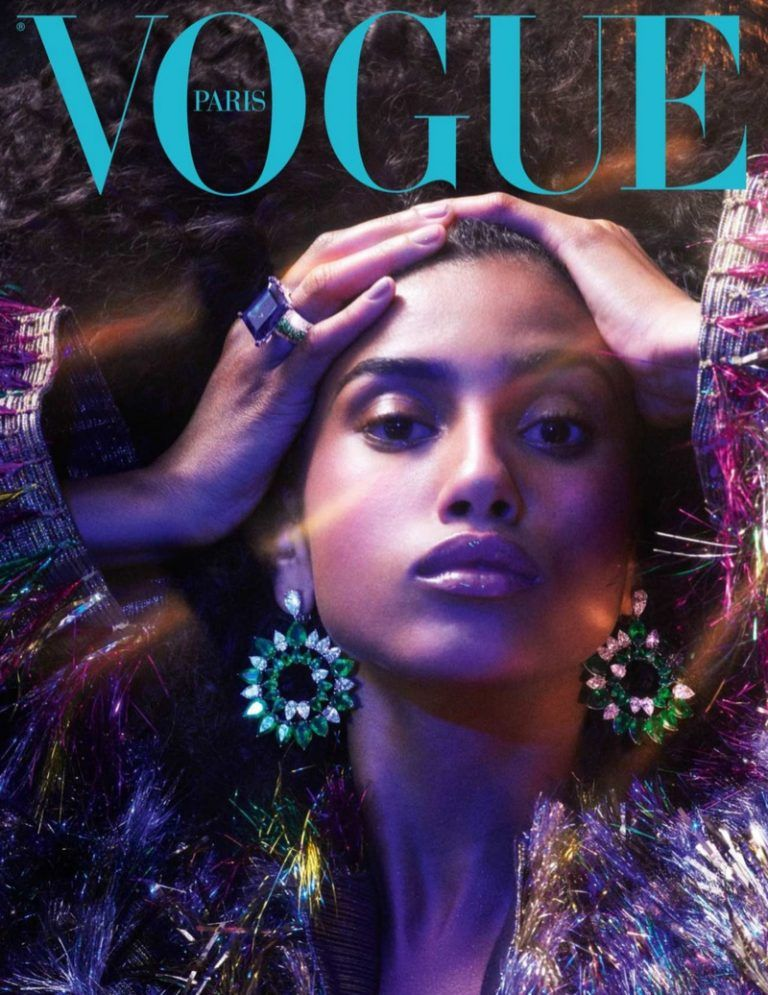 Photo of Kaia Gerber & Edie Campbell Model Precious Gems for Vogue Paris