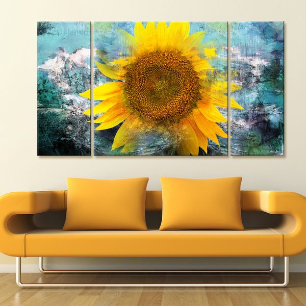 Ready2hangart Alexis Bueno \'Painted Petals VIII\' 3-piece Canvas Wall ...